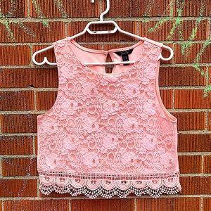 Streetwear Society long cropped Lace Crochet top